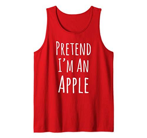 Pretend I'm An Apple Halloween Tank Top