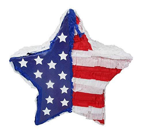 Patriotic Star 4th of July Party Pinata - Kids Game and Handcrafted -