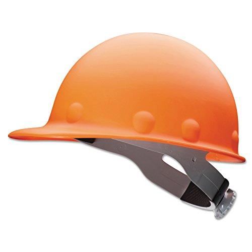 Fibre-Metal by Honeywell P2HNRW03A000 Super Eight Fiber Glass High Heat Ratchet Cap Style Hard Hat, Orange