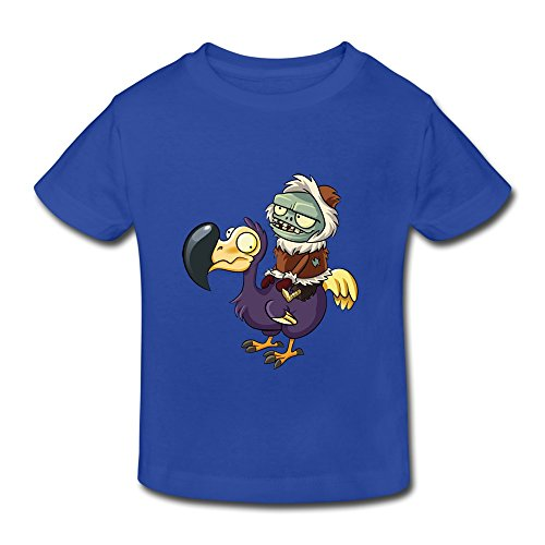 Price comparison product image Boys' Girls' (age 2-6) Plants VS Zombies Cotton Tee Shirt 3 Toddler RoyalBlue