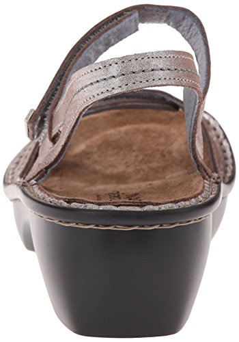 Naot Brussels Threads Leather Sandals Womens Silver q75qrx