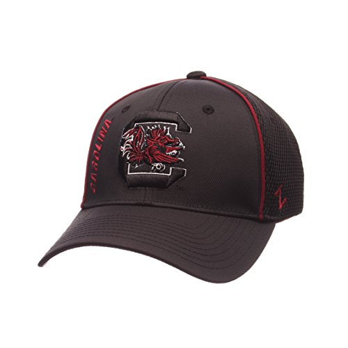 Zephyr NCAA South Carolina Fighting Gamecocks Men's Punisher Hat, Black, Medium/Large