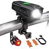 USB Rechargeable Bike Light Set, Runtime 5+ Hours 450 Lumens LED Super Bright