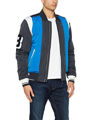 lunghe Multicolor Tommy Bomber Uomo Maniche skydiver Varsity Multi Jeans Jacket ZfYY7w0Hq