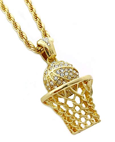 91cccc0f3bd Basketball Hoop Pendant Necklace with 24