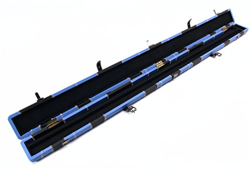 Professioneller High Qualit/ät schwarz und blau 3//4/Pool Snooker Queue Koffer