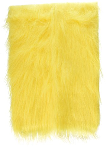 Darice®CRAFT DESINGER P002/H-F2 Fur Long Pile 9X12In Washable, Yellow]()