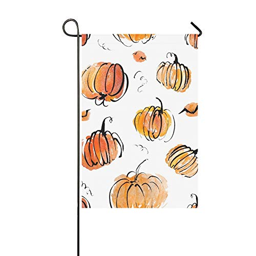 KUneh Home Decorative Outdoor Double Sided Artistic Halloween Pattern Design Set Garden Flag,House Yard Flag,Garden Yard Decorations,Seasonal Welcome Outdoor Flag 12 X 18 Inch Spring Summer Gift