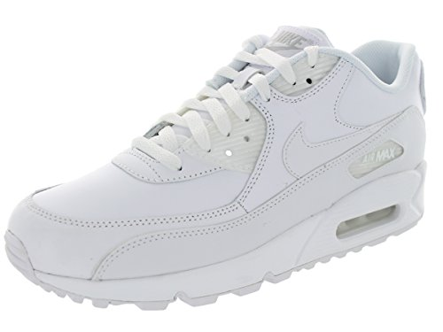 Nike AIR MAX 90 Leather Retro Running Shoes White White 302519 113