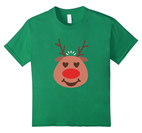 Vixen Reindeer Costumes (Kids RUDOLPH The Red Nose Reindeer T-Shirt Santa Christmas Shirt 8 Kelly Green)