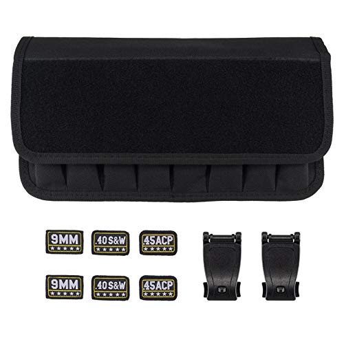 BOOSTEADY Molle 8 mag Pouch with Cover, Pistol Magazine Storage Pouch