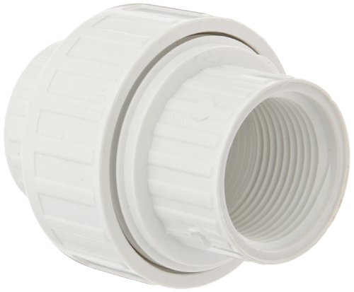 Spears 498 Series PVC Pipe Fitting, Union with EPDM O-Ring, Schedule 40, 1