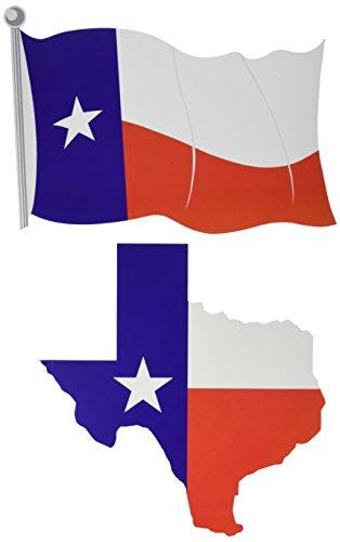 "Beistle 54746 Texas Cutouts , 13.5""/14.5"", Red/White/Blue"