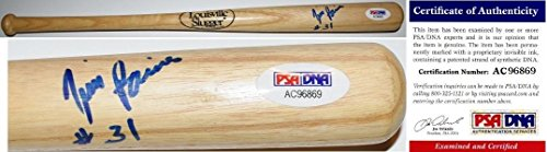 Tim Raines Signed Baseball Bat - Mini 2017 Hall of Fame Inductee New York Yankees Certificate of Authenticity COA - PSA/DNA - Fame Hall Mini Of Bat