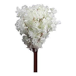 Yamalans 1 Bouquet 3 Branches Cherry Blossom Silk Artificial Flowers Home Wedding Decor 19