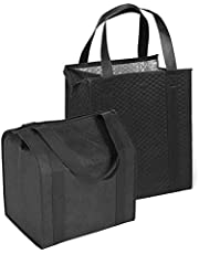 Hannah Insulated Shopping Bag, Black (2 Pack)