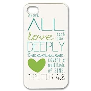 Bible Verse CUSTOM Phone Case for iPhone 4,4S LMc-18531 at LaiMc