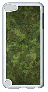 iPod Touch 5 Case and Cover -Green Camo PC case Cover for iPod Touch 5¨C White