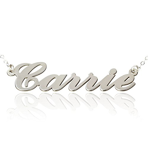 Silver Personalized Name Necklace - 7