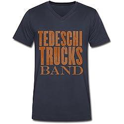 Tedeschi Trucks Band Wheels Of Soul Tour Logo V Neck T Shirt For Men