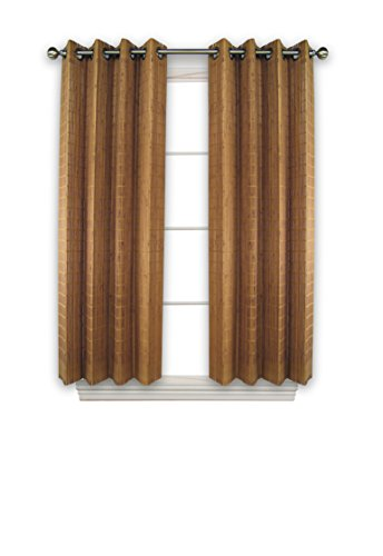 (Versailles Home Fashions BPU144263-9 Bamboo Wood Curtain Panel with Grommets, 42