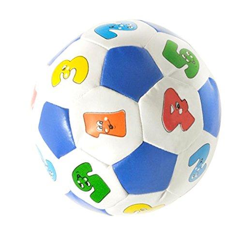Fenteer 教育ボール パズルゲーム 色番号 ゴムボール 子供 教育おもちゃ PUレザー製