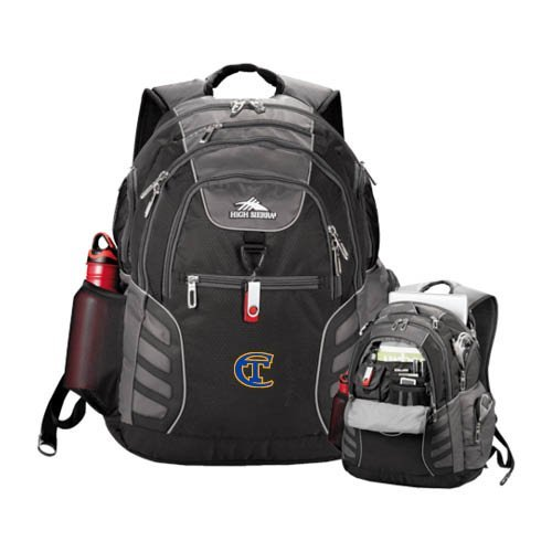 City Tech High Sierra Big Wig Black Compu Backpack 'Official Logo' by CollegeFanGear