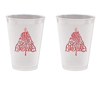 Navidad Frost Flex Vasos De Plastico Arbol De Navidad 10 Tazas - Arbol-de-navidad-con-vasos-de-plastico
