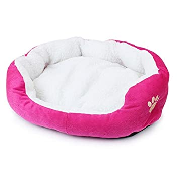 Beauty DIY Mart Nido Cama de Mascotas, Pequena Casa Caliente Suave de Algodon para Perros Gatos Cachorros Conejos,Rosa: Amazon.es: Productos para mascotas
