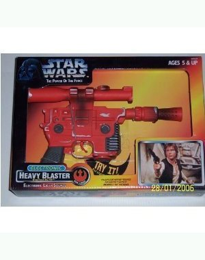 Star Wars Power of the Force Electronic Heavy Blaster BlasTech DL-44 with Electronic Laser Sounds (Blaster Heavy)