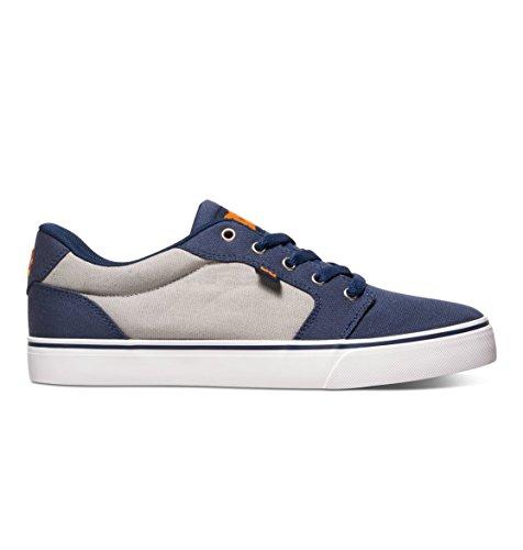 DC Shoes Mens Shoes Anvil Tx - Low-Top Shoes - Men - US 6 - Blue Navy/Orange US 6 / UK 5 / EU 38