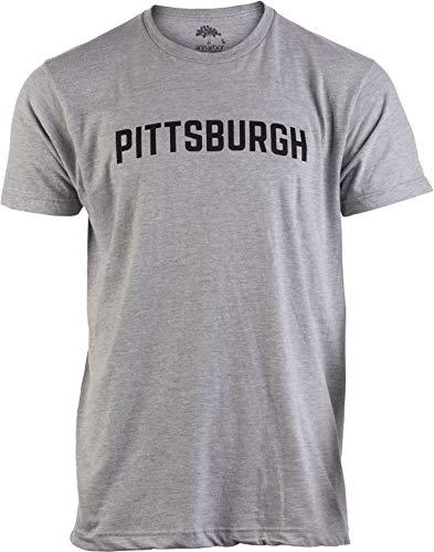 Pittsburgh   Classic Retro Style Pennsylvania PA City Pride Men Women T-Shirt-(Grey,XL)