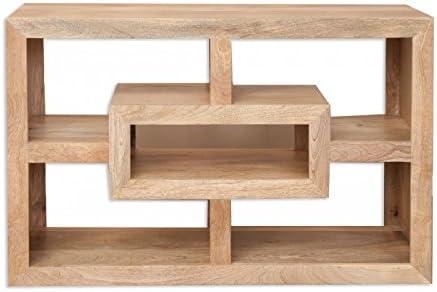 Cube Mango Wood Tv Cabinet Solid Mango Wood Modern Design Tv Stand Modern Living Room Furniture Amazon Co Uk Kitchen Home