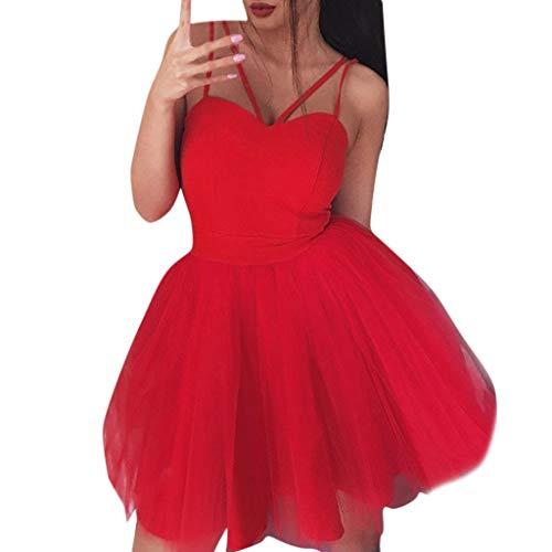 Stoota Women Sexy Mesh Sleeveless V Neck Off Shoulder Dress Evening Party Dress ()