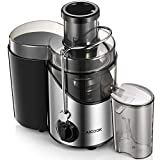 "Juicer Machine, Aicook Juice Extractor with 3"" Wide Mouth, Non-Slip Feet, 3 Speed Centrifugal Juicer for Fruits and Vegs, BPA-Free"