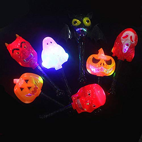 Light-up Toys - Unisex Plastic Gag Light Up Toy Halloween Pumpkin Ghost Skull Witch Glow Stick Toys Style Random - Toys Light-up Light Toys Magic Stick Sword Witch Broom Piece Shit Halloween Funn