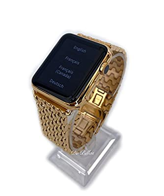 24K Gold 42MM Apple Watch SERIES 2 with Gold Link Butterfly Band