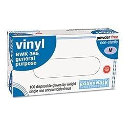 Boardwalk Exam Vinyl Gloves, Powder&Latex-Free, 4 Mils, Medium, Clear, 100/Box