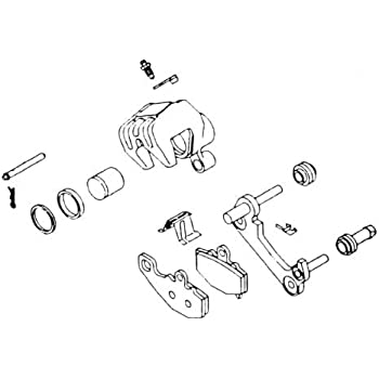 Amazon Com 83 86 Honda Vt500c Kl Brake Caliper Rebuild Kit Front