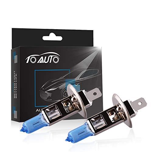 TOAUTO 2 X H1 100W 12V Car Headlight Lamp Halogen Light Super Bright Fog Xenon Bulb White