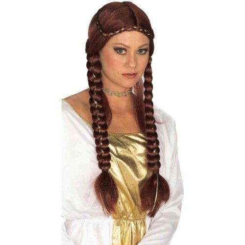 Renaissance Costume Brown Maiden Princess Braided Wig (Brown Braided Wig)