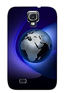 GUzWfUI5530hreUZ Faddish Globe Case Cover For Galaxy S4 With Design For Christmas Day's Gift