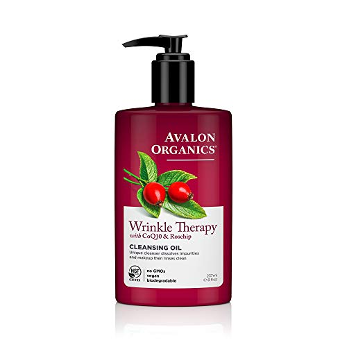 Wrinkle Therapy Cleansing Oil Avalon Organics 8 fl oz Liquid