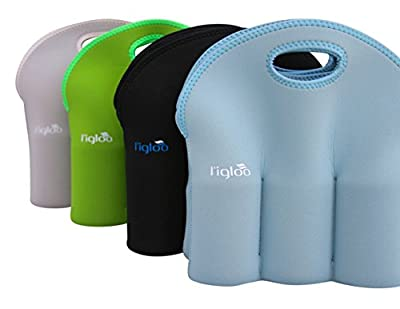 Neoprene 6 Pack Bottle Carrier, Extra Thick Insulated Baby Bottle Cooler Bag Keeps Baby Bottles Cold or Warm Great as Baby Shower Gift