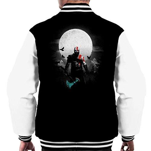 PHJFDJ God of War Kratos Moon Men's Varsity Jacket