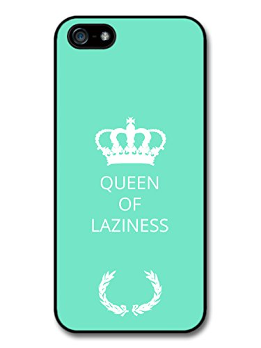 New Funny Queen of Laziness Gift Idea on Light Blue Design coque pour iPhone 5 5S