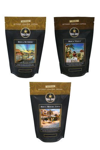 Boca Java Roast to Order, Best of Boca Variety Pack, Whole Bean, 8 oz. bags (Pack of 3) ()