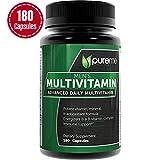 Pureme Men's Daily Multimineral/Multivitamin Supplement -  Vitamins A C E D B1 B2 B3 B5 B6 B12. Potent Vitamin Mineral and Antioxidant Formular for Heart and Immune Health. 180 Capsules