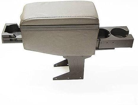 Universal 42007 Car Armrest Arm Rest Centre Console Storage Box Faux Leather Cup Holders Black
