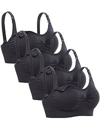 Womens Sleeping Nursing Bra Wirefree Breastfeeding Maternity Bralette Pack of 4